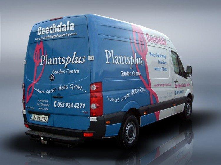 Plantsplus. Half van wrap
