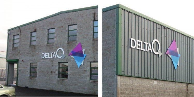 Delta Q Raised Letters