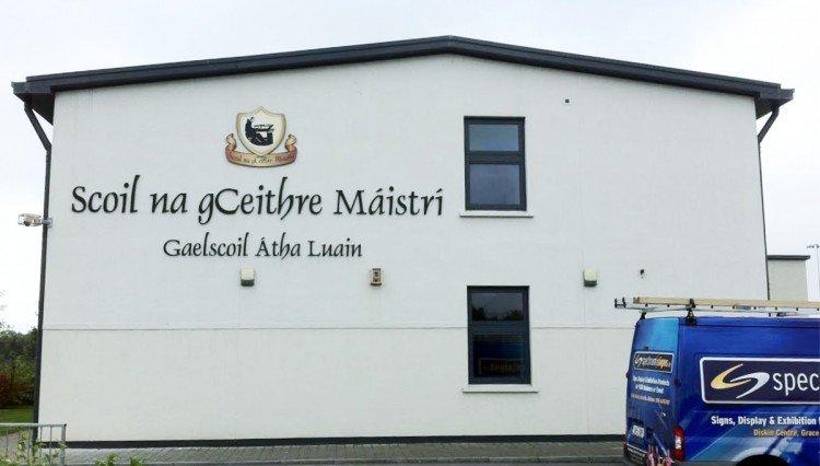 Gaelscoil Athlone raised letters