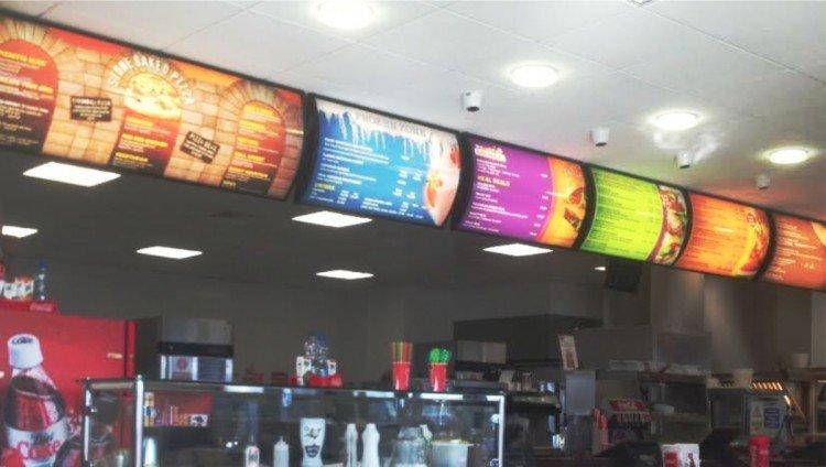 Illuminated menu inserts