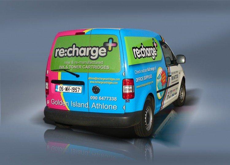 Recharge. Half van wrap