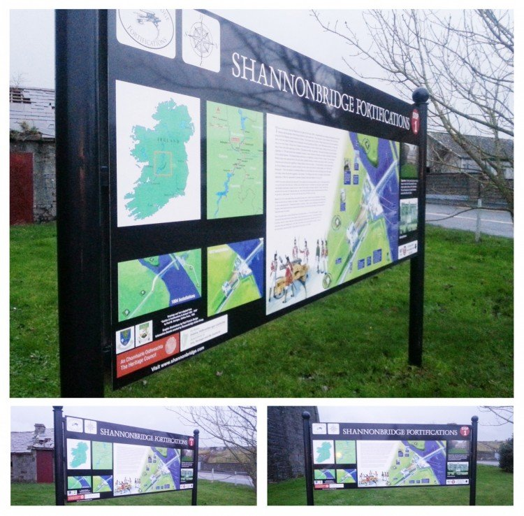 Heritage trail signs, Co. Offaly
