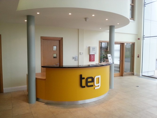 TEG reception sign, Mullingar