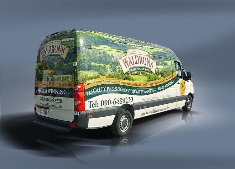 Full colour van wrap