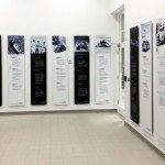 Wall displays & information boards in car showroom