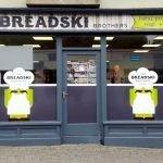 Shopfront with window graphics