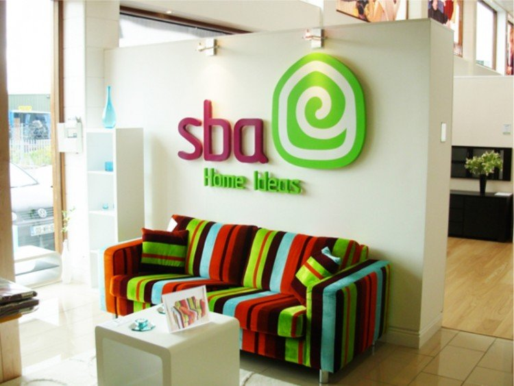Sba reception area sign