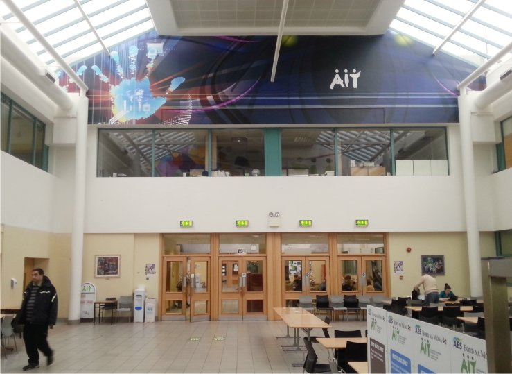 Large wall graphic at  Athlone I.T.