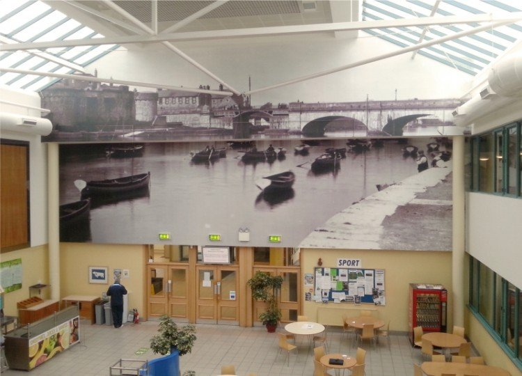 Large wall graphic at  Athlone I.T.T