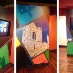 Wall art in museum