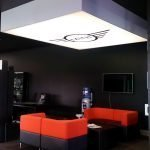 Ceiling mounted feature lightbox