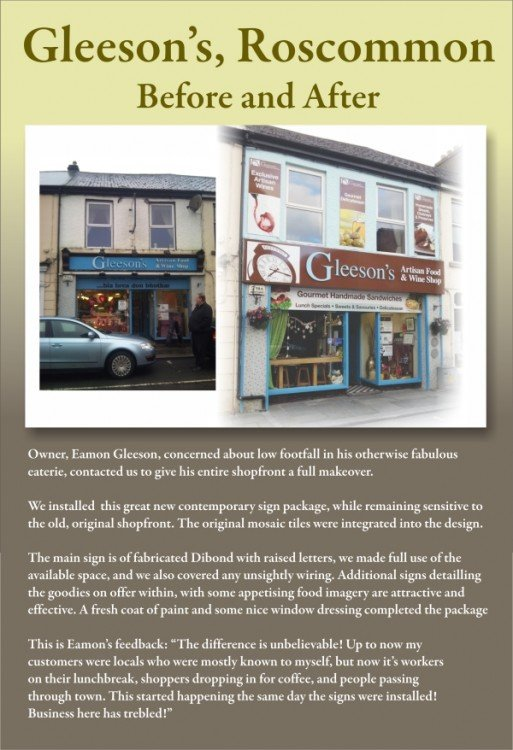 Gleesons of Roscommon new shop front