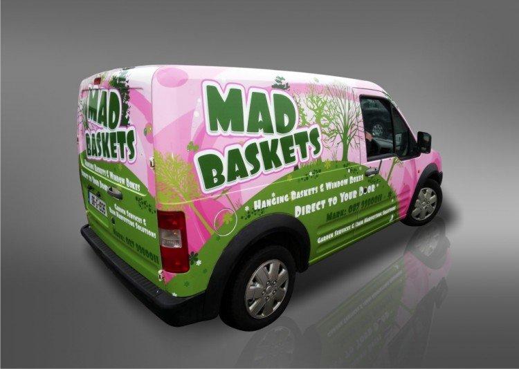 Mad Baskets full van wrap