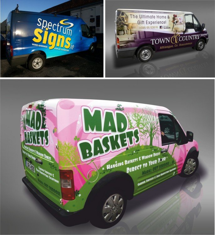 Full colour van wraps