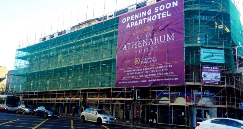 Large Banner Announcing Opening Soon
